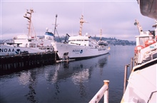NOAA Ship RAINIER tied up at the Pacific Marine Center
