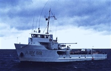 NOAA Ship FERREL.In service 1968 - .Atlantic service.A squall kicking up in the Gulf of Mexico.