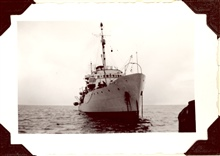 Starboard bow of Coast and Geodetic Survey Ship EXPLORER.