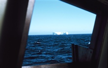 The first iceberg seen during the expedition