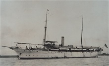 The Coast and Geodetic Survey Ship PATHFINDER in the Philippines in the early1900's.  This was the first PATHFINDER.