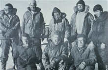 A hairy bunch of Antarctic explorers after coming back to a base camp from atraverse expedition