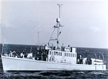 Coast and Geodetic Survey Ship PARKER.  This ship was used primarily forwiredrag work with the BOWEN and the STIRNI.