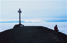 Vince's Cross at Hut Point Peninsula, McMurdo Station, Antarctica.  Named forGeorge Vince, a member of the Scott Discovery Expedition, who drownednearby.