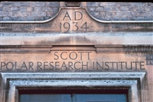 The old entrance to Scott Polar Research Institute in Cambridge, England.