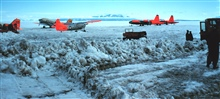The ice landing strip at McMurdo Station.