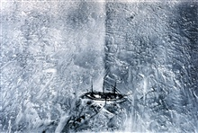 Aerial view of the GAUSS in the ice during the German Antarctic Expedition.This picture was obtained from a balloon and is one of the first aerialphotographs of the Antarctic environment.  In: Deutsche Sudpolar-Expedition1901-1903 Meteorologie I by E