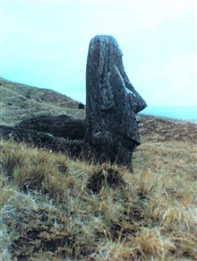 The stone quarry at Easter Island.