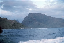 Moorea shoreline seen from offshore