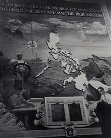 Mural on wall of Coast Survey offices in Manila.