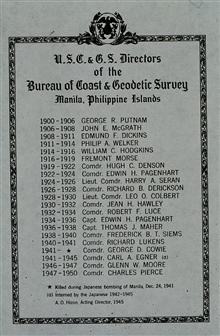 List of Directors of the Philippine Bureau of Coast and Geodetic Survey.