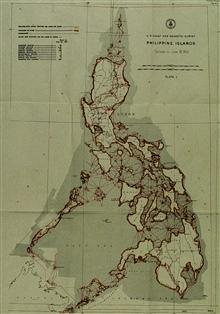 Triangulation diagram showing near completion of triangulation of Philippines.Diagram produced in 1941