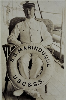 Ken Crosby on the MARINDUQUE.