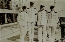 L to R, ?, George L. Anderson, Chief Conover, Cornelius D. Meaney.
