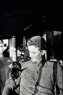 George L. Anderson with a pet monkey.On the MARINDUQUE