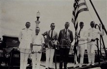 L to R - George L. Anderson, Ken Crosby, Francis Gallen, Cornelius D. Meaney, ?H. C. Warwick.MARINDUQUE at Zamboanga