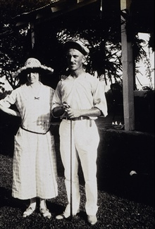 Captain and Mrs. Fred L. Peacock.At the Zamboanga Country Club.Off the MARINDUQUE