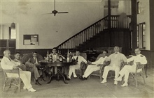 The Club at Sandakan.Unidentified PATHFINDER personnel and locals.After a run down to Sandakan for coal