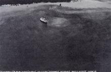 Aerial view of the C&GS; Ship FATHOMER on a bad day.After the typhoon of August 15, 1936.Photo #2 of sequence.