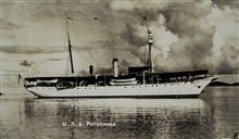 The PATHFINDER after arriving in the Philippines.An old post card that had been repeatedly printed.