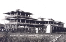 The sultan's palace at Mambaing, Jolo.Before the typhoon