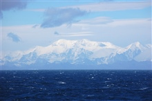 South Georgia Island as seen from the NOAA Ship RON BROWN.  Theisland is in the South Atlantic Ocean at 54 15 S Latitude, 30 W Longitude.