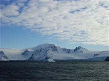 Ice, rock, snow, and ocean dominate the Antarctic Peninsula landscape.