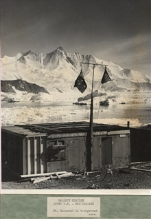 Hallett Station with Mt. Herschel in the background.  Sir Edmund Hillary led anexpedition to climb Mt. Herschel in the 1967-1968 summer season.