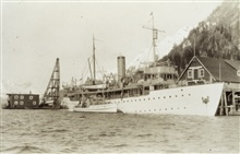 Coast and Geodetic Survey Ship SURVEYOR with HELIANTHUS.In service 1917 - 1956.Pacific service