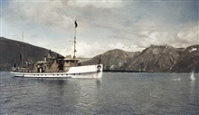 Coast and Geodetic Survey Ship WESTDAHL-note splash from lead.In service 1929 - 1946.Pacific service.Note splash from lead forward of bow.