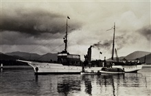 Coast and Geodetic Survey Steamer EXPLORER with launches alongside.In service 1904 -1939.