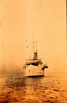 Coast and  Geodetic Survey Ship BACHE in Sapelo Sound, Georgia.In service 1901-1927.