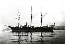 Coast and Geodetic Survey Steamer PATTERSON.In service 1884 -1919.Pacific service.Note black hull.