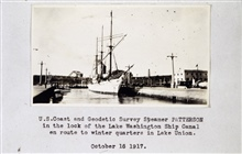 Coast and Geodetic Survey Steamer PATTERSON.In service 1884-1919.Pacific service.Lake Union Locks.
