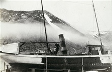 Coast and Geodetic Survey Steamer YUKON.In service 1898-1923.Pacific service.Ready for launching at King Cove, Alaska.