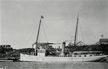 Coast and Geodetic Survey Steamer YUKON.Moravian Mission Wharf at Bethel, Alaska.In service 1898-1923.