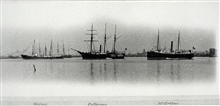 Coast and Geodetic Survey Ships GEDNEY, PATTERSON, AND MCARTHUR.