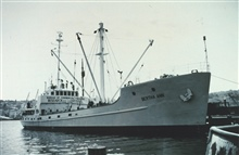 Chartered Bureau of Commercial FisheriesShip BERTHA ANN.  This ship waspreparing to leave for an experimental high seas salmon gill-netting fishingexpedition.