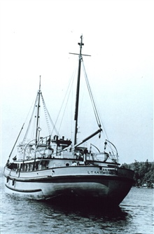 Fish and Wildlife Service Vessel PENQUIN II, used to supply the Pribilof Islands.  Originally an Army supply vessel named the LT. RAYMOND ZUSSMAN.